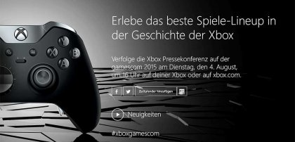 Microsoft Xbox-Gamescom-Event am 4. August 2015