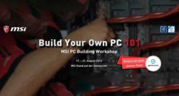 MSI bietet exklusive Casemodding-Workshops auf der gamescom 2016 an.